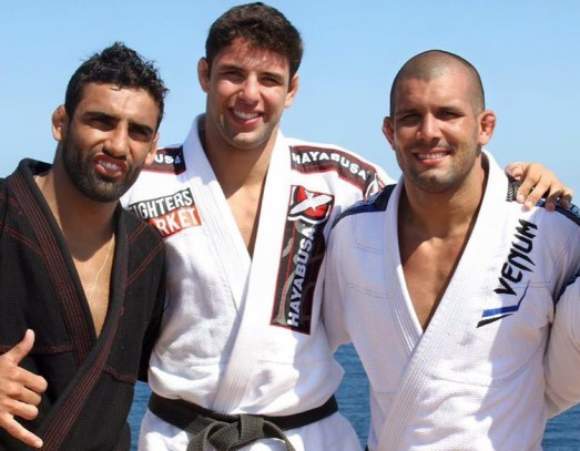 Marcus Buchecha, Leandro Lo and Rodolfo Vieira's slap training