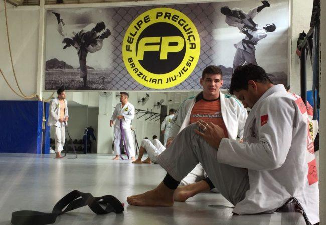 GRACIEMAG esteve aqui: O treino intenso de Felipe Preguiça na FP Team