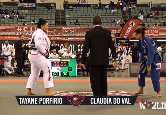 Vídeo: A guerra de Tayane Porfírio e Cláudia do Val no SJJIF World Jiu-Jitsu
