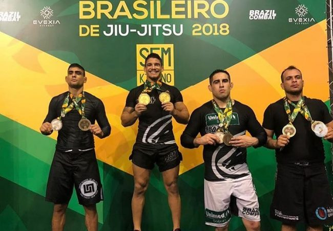 Hugo Marques, Carina Santi win double gold at Brazilian No-Gi Nationals