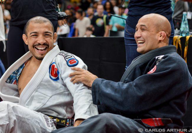 BJ Penn e José Aldo treinam Jiu-Jitsu com kimono na Nova União
