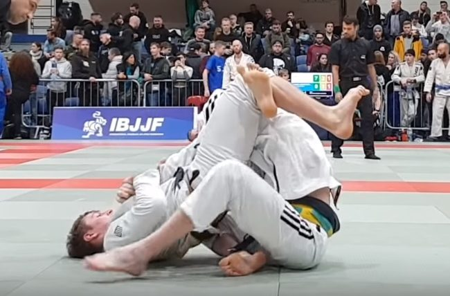 Espen Mathiesen's armbar from the triangle at the Dublin Open