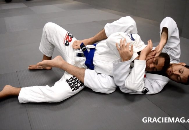 At Gracie Kore, Roger teaches a choke to baffle the defender