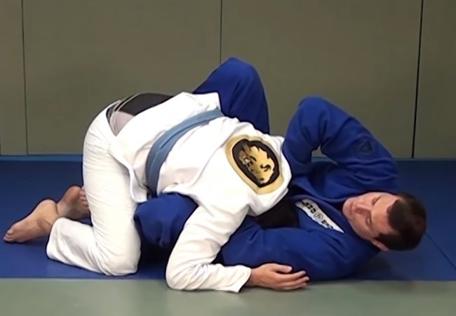 So you failed at the sweep. Roger Gracie shows how to save yourself with the guillotine