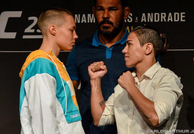 Jéssica Bate-Estaca e Rose Namajunas exaltam o Jiu-Jitsu na coletiva do UFC Rio