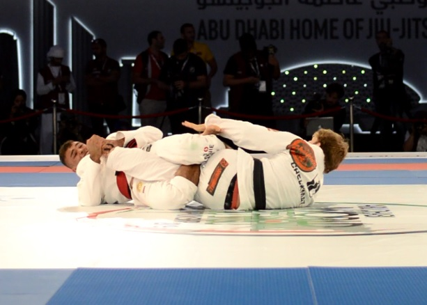From another angle: Kaynan Duarte's leg lock at Abu Dhabi World Pro 2019