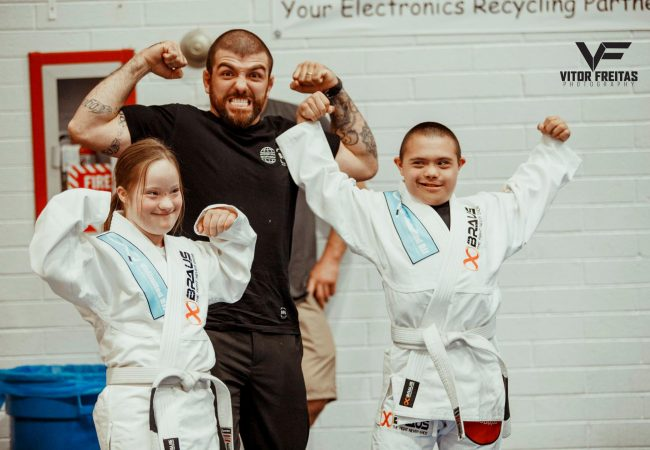 Allan Di Lucia is teaching BJJ for free to special-needs athletes