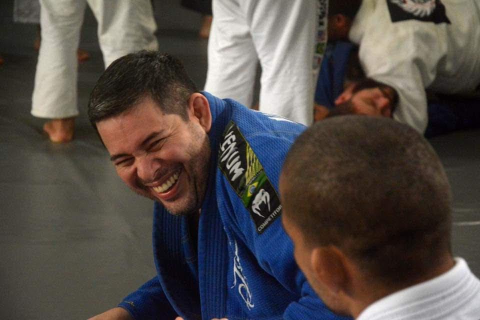 Rodrigo treina Jiu-Jitsu em Vitória, no Espírito Santo.