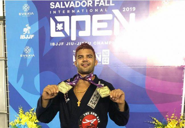 Horlando Monteiro and Cláudia do Val win double gold at the Salvador Open
