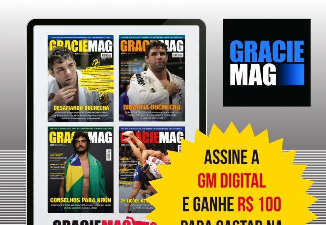 Promoção de 2 anos da GRACIEMAG Digital. Assine e ganhe um voucher de R$ 100 da Combate Seller