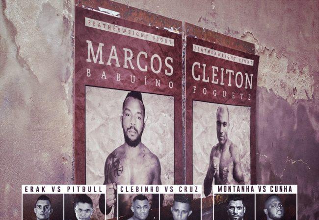 Marcos Babuíno e Cleiton Foguete assumem luta principal do Future MMA 8