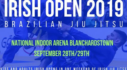 Sign up for the Irish Open BJJ Championships and fight for tickets to the 2020 Euros