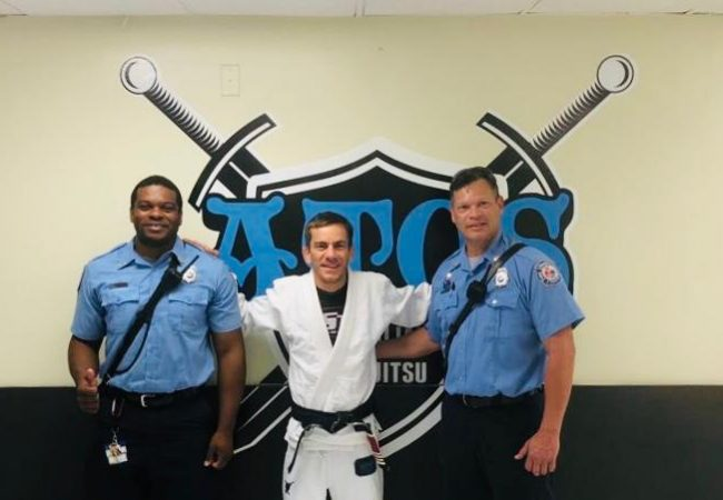 Prof. Christophoros is teaching police and firefighters to neutralize threats with BJJ