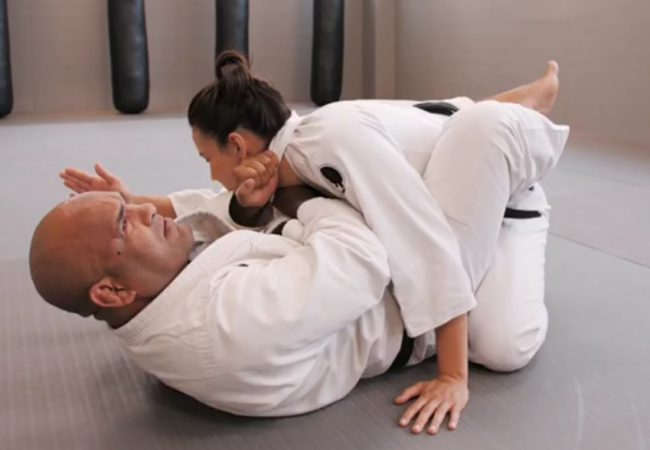 Don't choke your partner too fast with this move shown to Kyra by a blind teacher