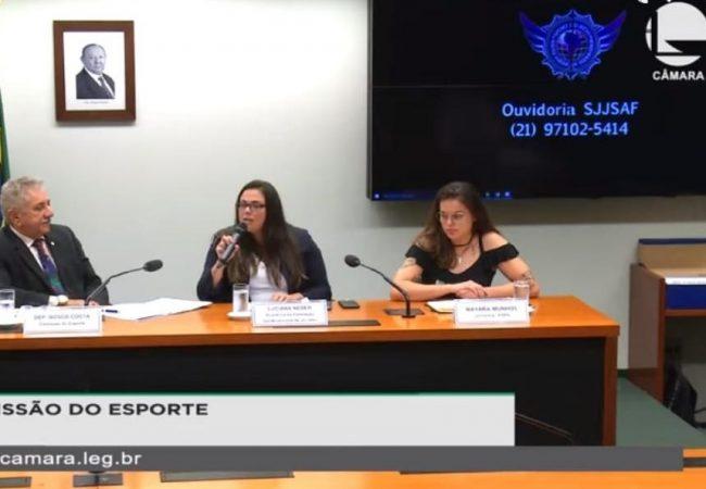SJJSAF participa de audiência pública em Brasília sobre a violência contra a mulher no esporte
