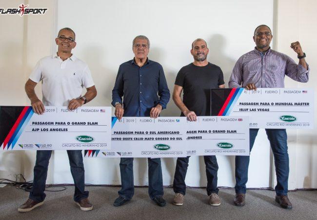 Líderes do ranking da FJJD-Rio recebem passagens para competir pelo mundo