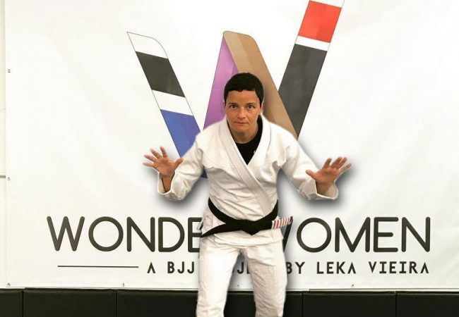 A raspagem de Leka Vieira no Jiu-Jitsu