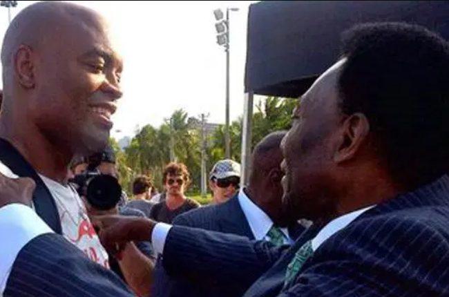 Relembre o dia em que Pelé encarou Anderson Silva