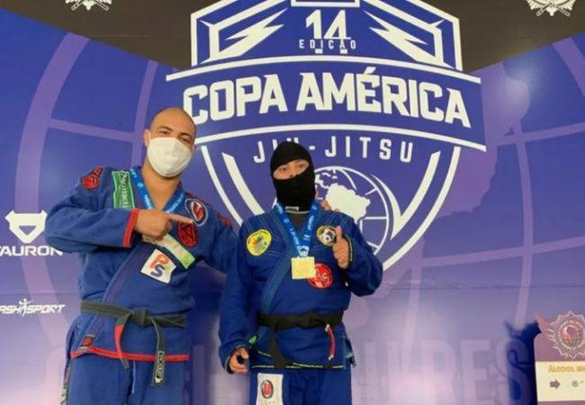 Atleta com síndrome de Down recebe a faixa-preta na Copa América de Jiu-Jitsu