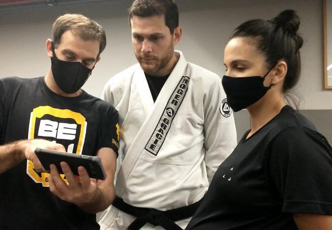 Kyra e Roger Gracie aprovam o BEJJ Game, o jogo do Jiu-Jitsu