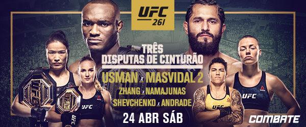 Vídeo: Usman, Namajunas e Shevchenko nocauteiam por cinturões do UFC 261