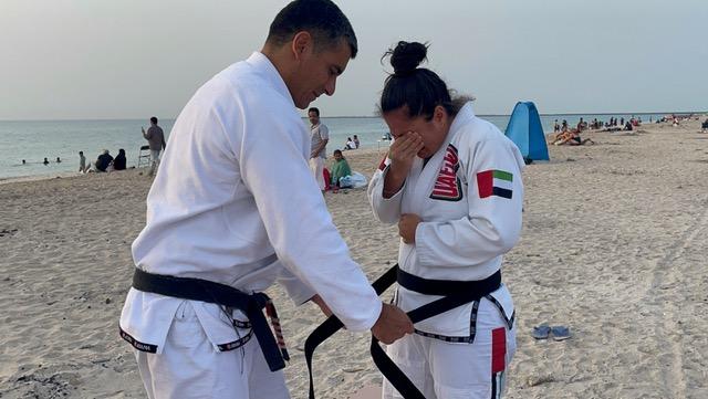 As lições de Eliza e Pedro Damasceno, o mais novo casal faixa-preta dos Emirados Árabes