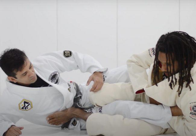 Michel Buiu e Mauro Ayres ensinam raspagem com chave de pé no Jiu-Jitsu
